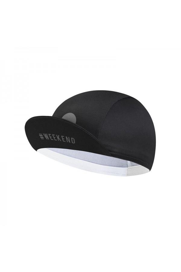 black cycling caps