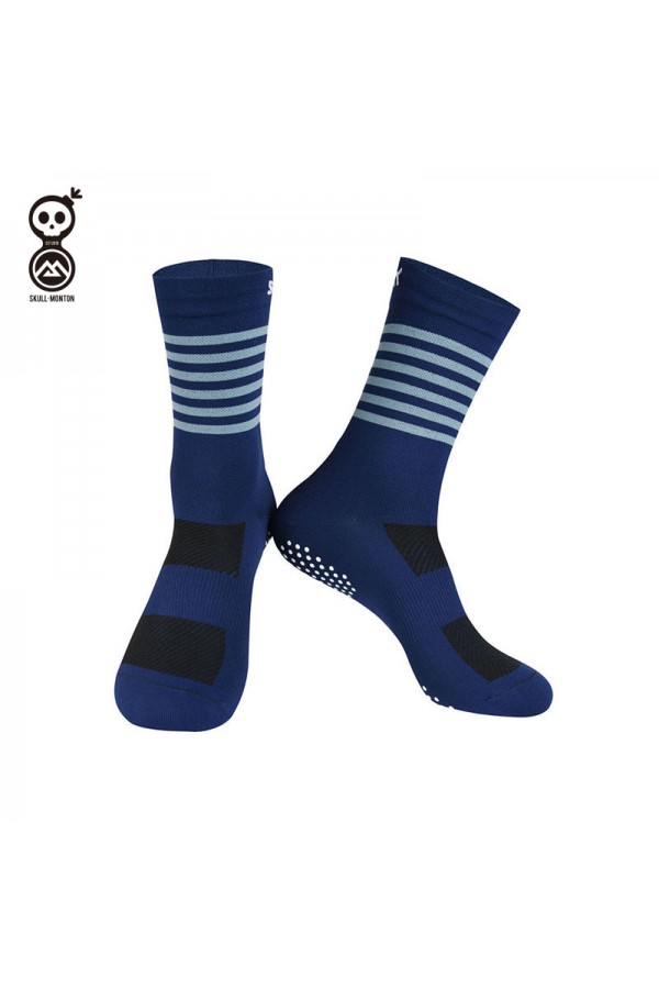 blue cycling socks