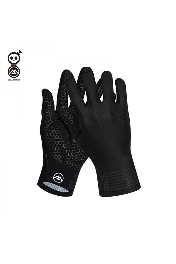 black bike gloves