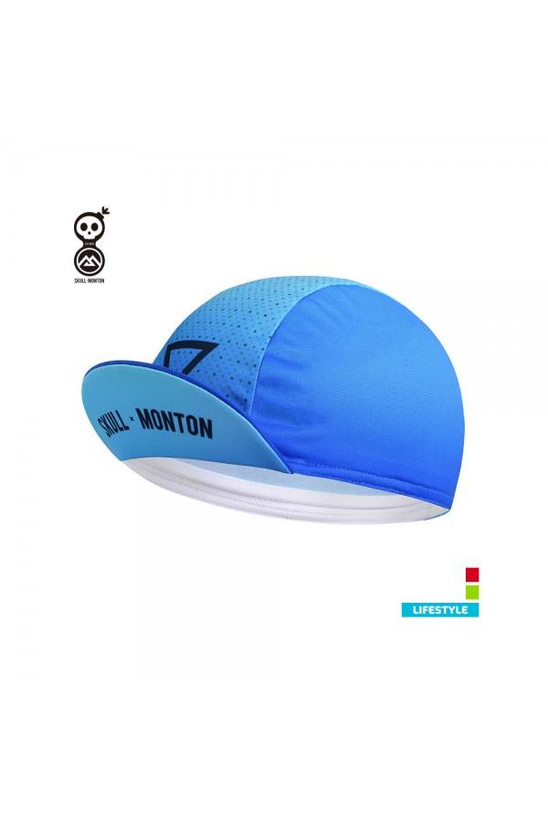 blue cycling caps