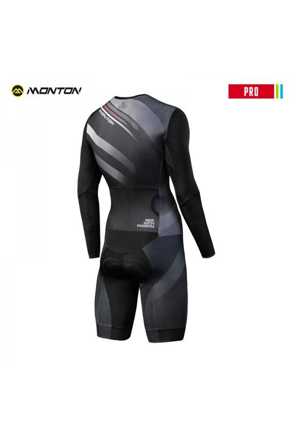 buy aero compression mens black cycling skinsuit long sleeve