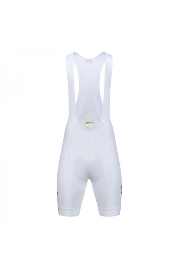 white cycling bib shorts