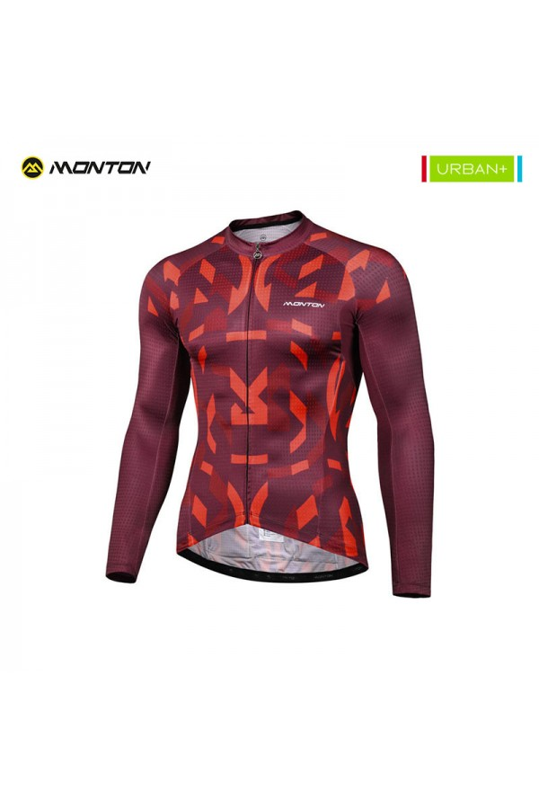 Mens long sleeve cycling jersey