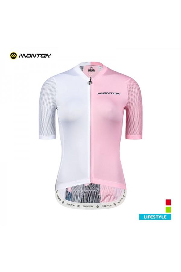 pink cycling jersey women's