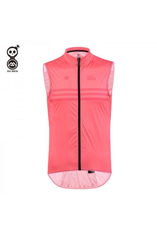 pink cycling gilet