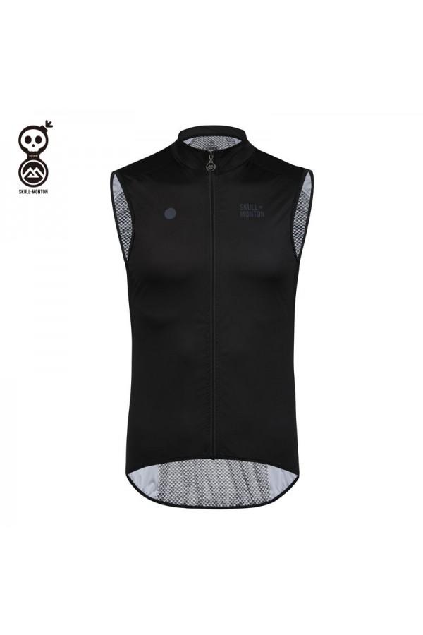 black cycling vest
