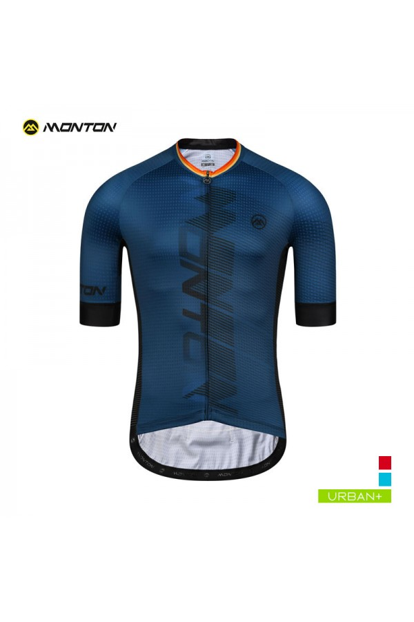 Buy Mens Blue Cycling Jersey Full Zip with Zipper Pocket Short Sleeve 0739784fa