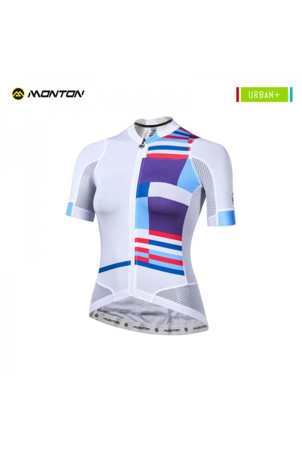 White cycling jersey