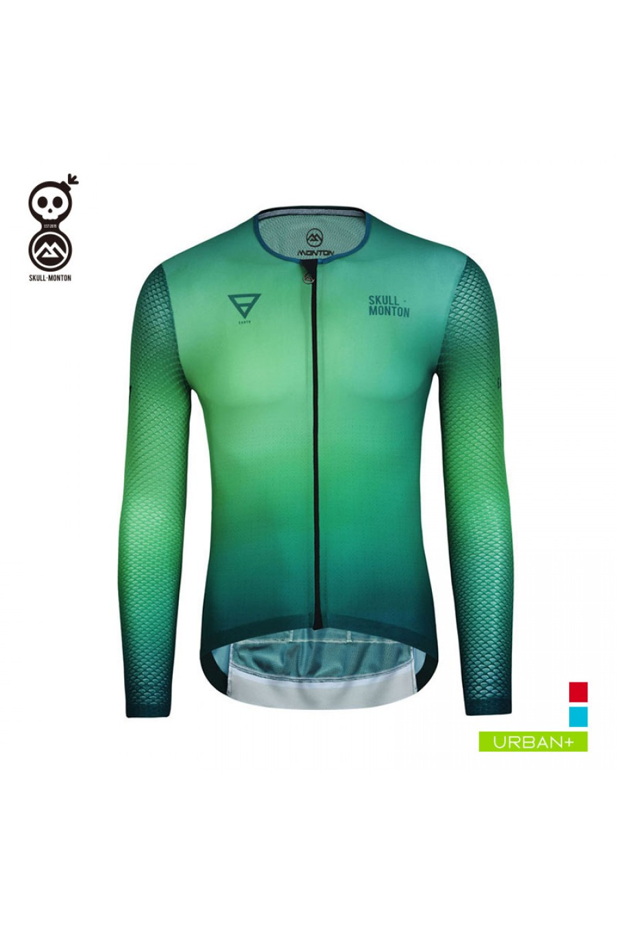 Mens Sports Team Cycling Jersey Set Bike Bicycle Top Long Sleeve Clothing Pocket