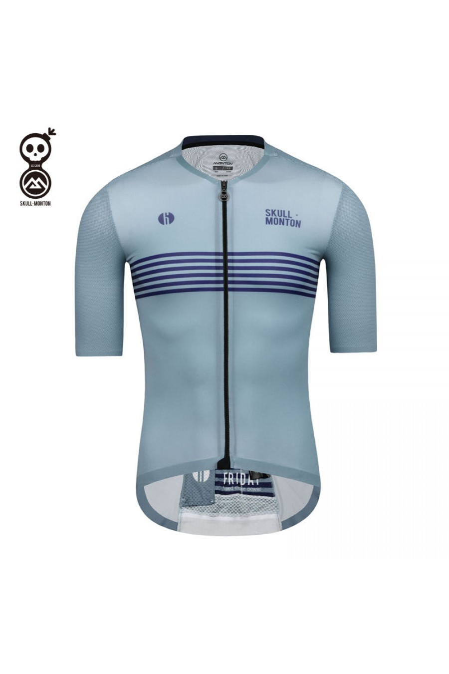 Bib Shorts Men/'s Cycling Kit Cycling Team Clothing Blue Stripes Jersey and