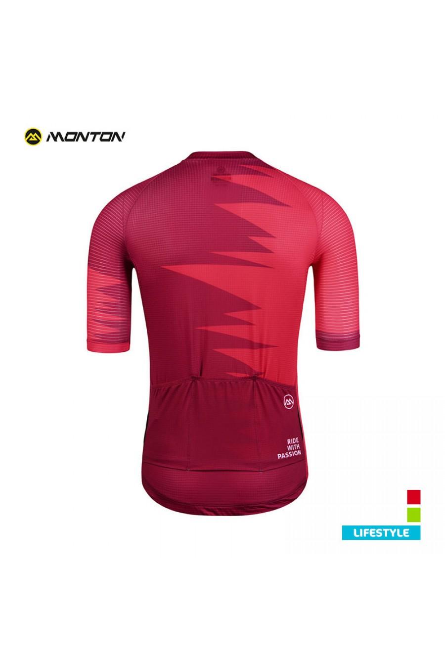 5dba8da96c5652 Buy Summer Full Zip Bike Jersey Short Sleeve Red Men s