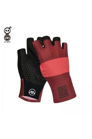 red bike gloves