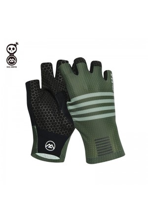 green cycling gloves
