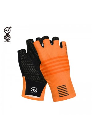 orange bike gloves