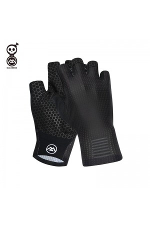 black cycling gloves