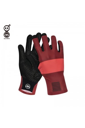 red cycling gloves