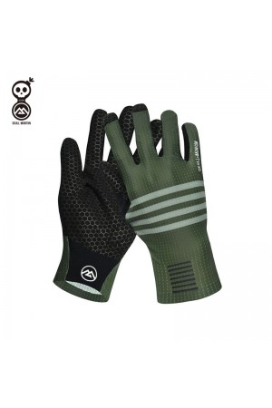 green bike gloves