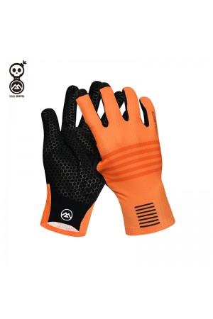 cycling gloves orange