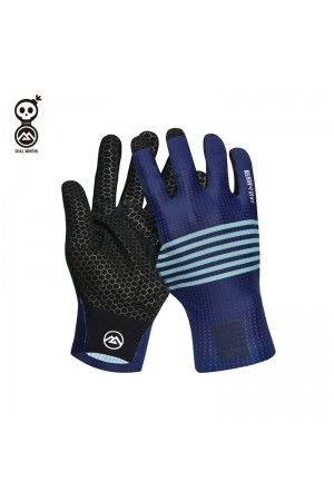 blue bike gloves