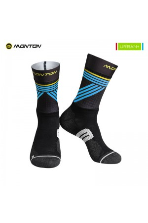 2018 Long Bike Socks Urban Graffio 2 Black Blue