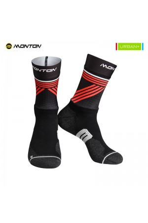 2018 Long Mountain Bike Socks Urban Graffio 2 Black Red