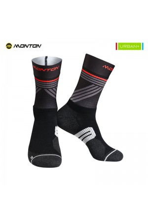 2018 Tall Cycling Socks Urban Graffio 2 Black Grey