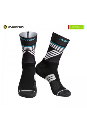 Low Cut Cycling Socks Urban Graffio 2 Black White Clearance