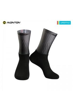2018 Short Aero Cycling Socks Lifestyle Howain 2 Black Grey