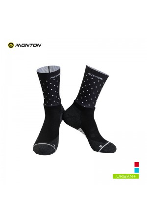 polka dot cycling socks