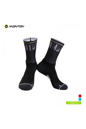 plain black cycling socks