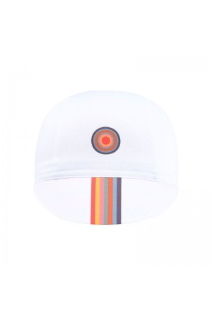white cycling caps