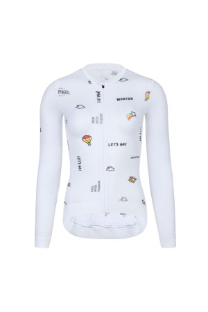womens long sleeved cycling jersey
