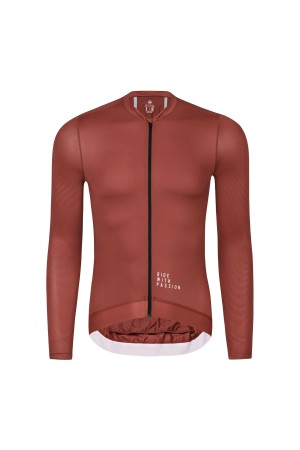 mens long sleeved cycling jersey