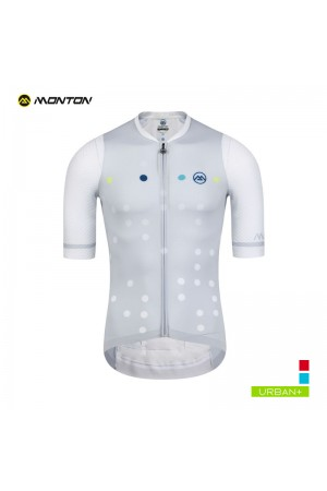polka dot cycling jersey