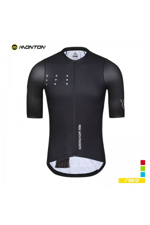 mens black cycling jersey