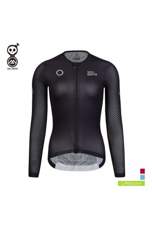 black long sleeve cycling jersey