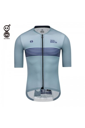 blue cycling jersey mens