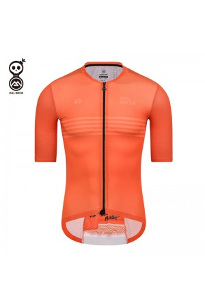orange cycling jersey men's