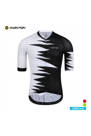 2019 Lifestyle Mens Short Sleeve Cycling Jersey Roar Black White