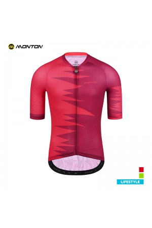 red cycling jersey men's