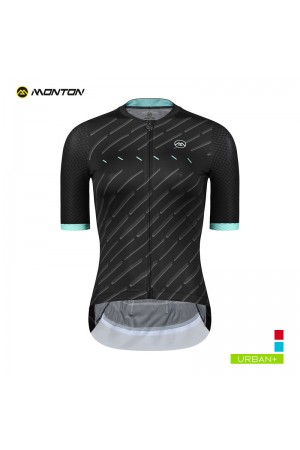 2019 Urban Womens Short Sleeve Cycling Jersey Winain Black