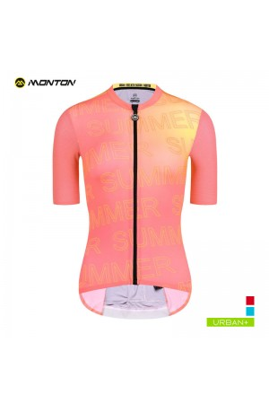 womens orange cycling jersey