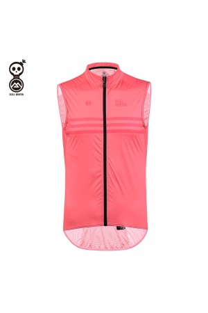 pink cycling gilet