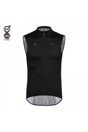 black cycling vest