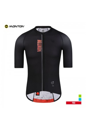 black cycling jersey