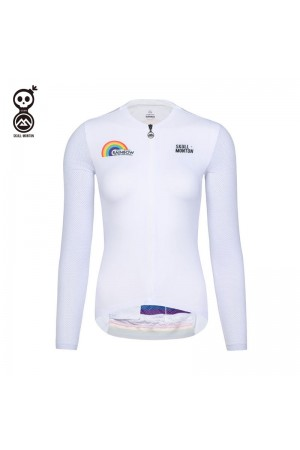 white cycling jersey long sleeve