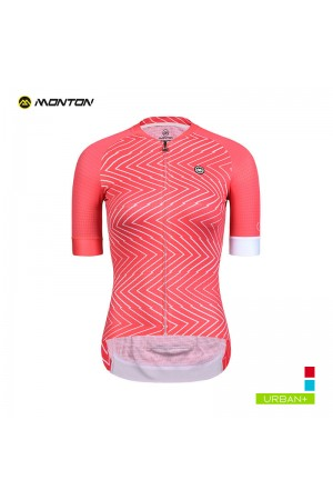 2019 Urban Womens Short Sleeve Cycling Jersey Diversion Line Red