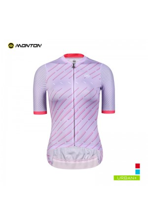 2019 Urban Womens Short Sleeve Cycling Jersey Winain Lilac