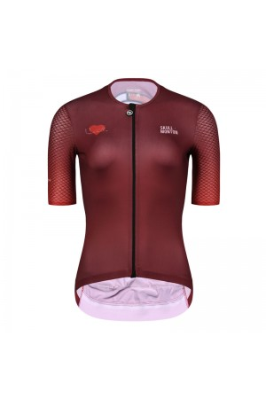 red cycling jersey
