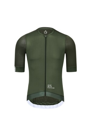 olive green cycling jersey